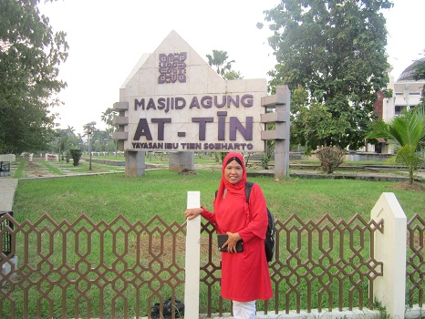 Berkunjung ke Mesjid Agung At-Tin TMII Jakarta Timur (Rabu 17 Agustus 2016)