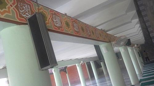 Asmaul Husna terdapat pada dinding sebelah kiri Ruang Utama Shalat Masjid UI Depok (Universitas Indonesia Depok, Jumat 19 Agustus 2016)