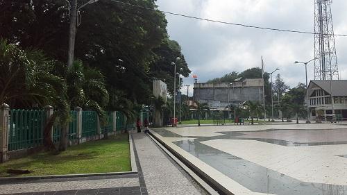 Plaza dan Taman Masjid Agung Babussalam Sabang Pulau Weh (Kamis 29 Desember 2016)