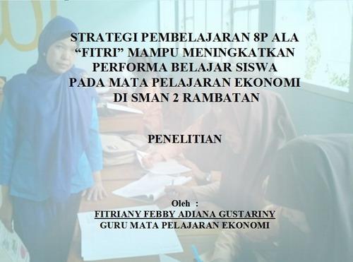 01 Cover Strategi Pembelajaran 8P Ala Fitri