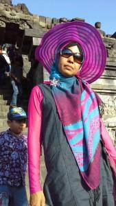 Dokumentasi Foto Saat Berada di Tangga Candi Borobudur
