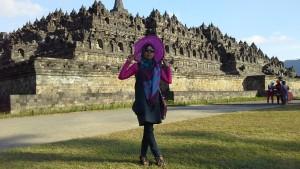 Pesona Borobudur di Bawah Siraman Mentari di kala Sore Hari