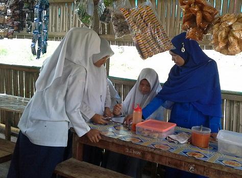 Dokumentasi Foto Penerapan Pembelajaran Sains 5M pada mata pelajaran Ekonomi di SMA Negeri 2 Rambatan