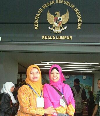 Dokumentasi Foto di pintu masuk KBRI Kuala Lumpur Malaysia