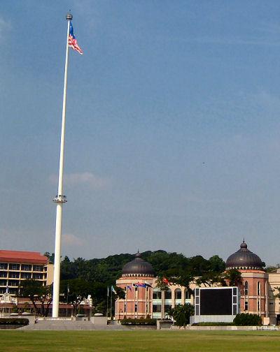 A100 metre high flagpole (http://www.malaysiasite.nl/merdekaeng.htm)