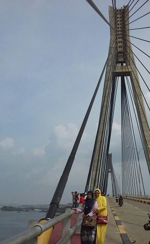 Dokumentasi Foto di atas Jembatan Barelang