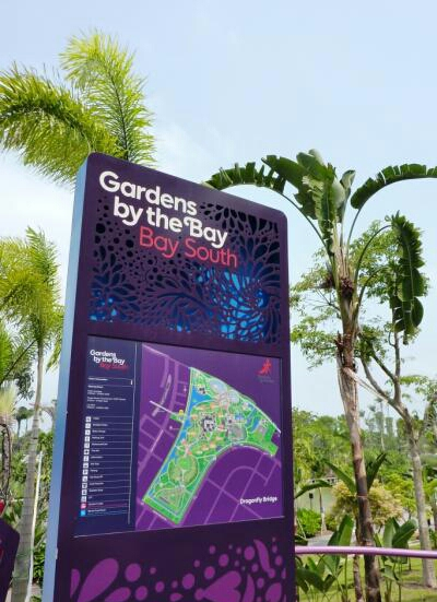 By South of  Gardens By The Bay