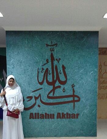 Kaligrafi Allahuakbar (Basemen Mesjid Agung Madani Islamic Centre Pasir Pangaraian Rokan Hulu, Kamis 5/5/2016)