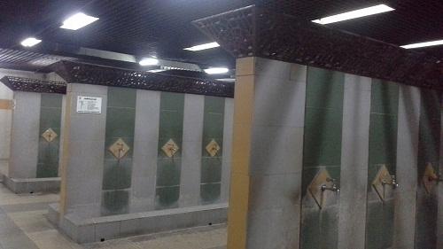 Kran Tempat Wudhu Wanita Mesjid Agung At-Tin TMII Jakarta Timur  (Rabu 17 Agustus 2016)