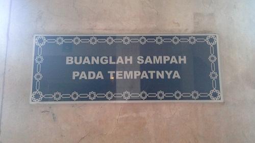Rambu-rambu Petunjuk Mesjid Agung At-Tin TMII Jakarta Timur (Rabu 17 Agustus 2016)