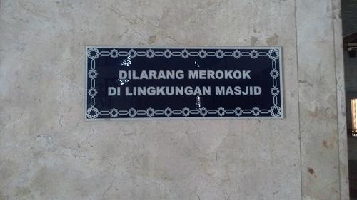 Rambu-rambu Larangan Mesjid Agung At-Tin TMII Jakarta Timur (Rabu 17 Agustus 2016)