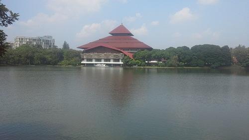 Bangunan lainnya milik Universitas Indonesia dilihat dari Masjid UI Depok (Masjid UI Depok, Jumat 19 Agustus 2016)