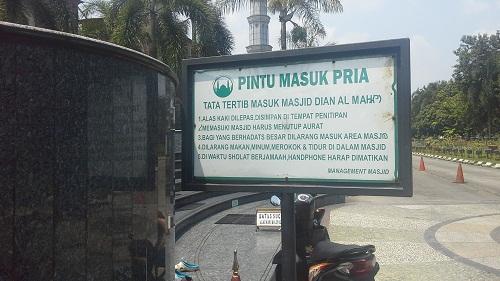 Tata Tertib Masuk ke Masjid Kubah Emas Depok  (Jumat 19 Agustus 2016)