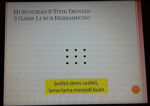 "Teka-teki Garis I sebagai awal pembuka  ""The Secret of Hypnoteaching"" pada pelatihan TTW oleh nara sumber Bapak Riswanto,Ch,Cht,Gr,SE,MM(SMK Cikini Jakarta Utara, Sabtu 20 Agustus 2016)"