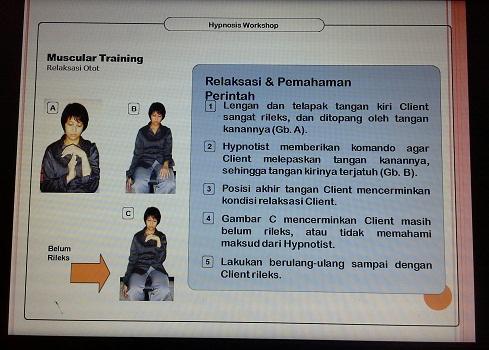 Suggestivity Test:  Muscular Training (Pelatihan TTW SMK Cikini Jakarta Utara, Sabtu 20 Agustus 2016)