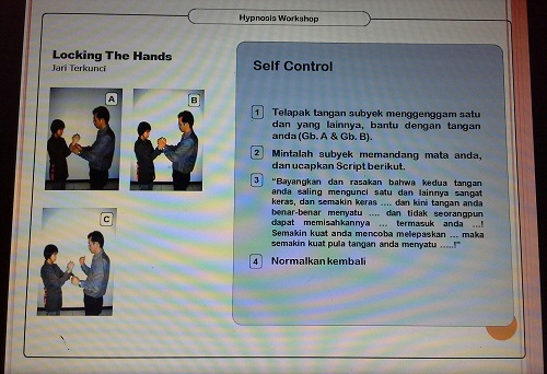 Suggestivity Test:  Locking The Hands (Pelatihan TTW SMK Cikini Jakarta Utara, Sabtu 20 Agustus 2016)