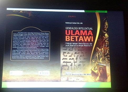 """Buku Genealogi Intelektual Ulama Betawi,  buku ini karya nara sumber pelatihan TTW (Rakhmad Zailani Kiki, dkk)  yang """"The Best Seller"""" di dunianya (SMK Cikini Jakarta Utara, Sabtu 20 Agustus 2016)"""