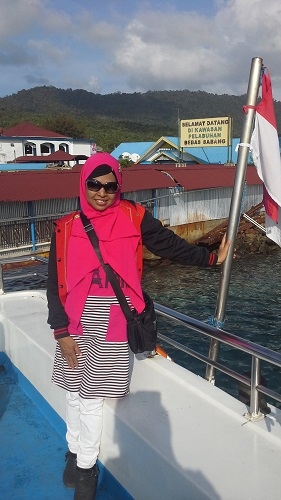 Dokumentasi Foto saat  kapal yang kami tumpangi, Kapal Express Bahari 2F merapat ke Pelabuhan Balohan Sabang-Pulau Weh (Kamis 29 Desember 2016)