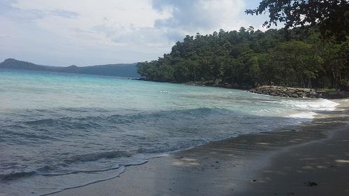 Penampakan Sisi Sebelah Kanan Pantai Gapang Sabang Pulau Weh (Kamis 29 Desember 2016)