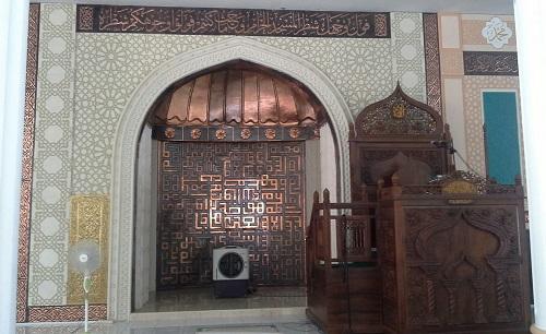 Mihrab dan Mimbar Masjid Agung Babussalam Sabang Pulau Weh (Kamis 29 Desember 2016)