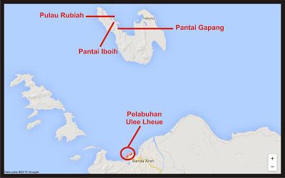 Peta Lokasi Pantai Gapang Sabang Pulau Weh (Sumber: http://lanskapwisata.blogspot.co.id/2015/10)
